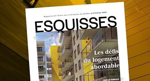 Parution d'Esquisses : Les défis du logement abordable