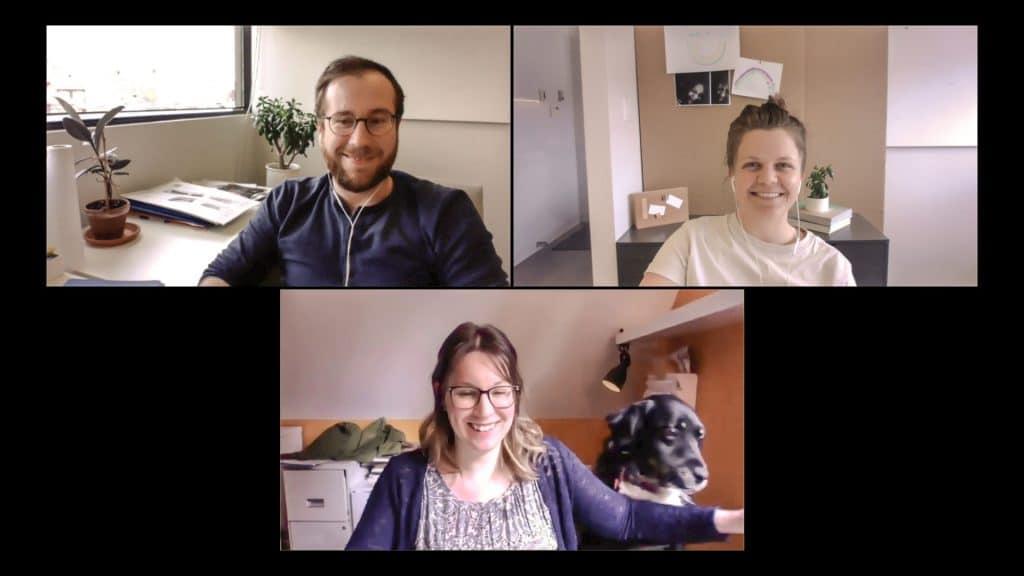 Bryan Fecteau-Berman et son équipe en vidéoconférence. Photo : AURA Architecture & Design