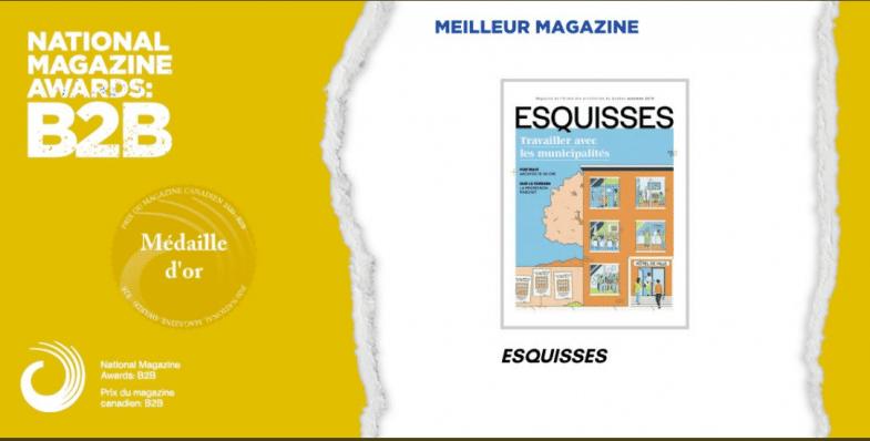 Prix Meilleur magazine NMA_B2B à Esquisses