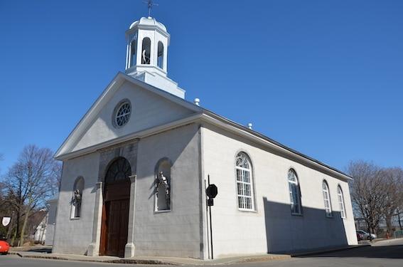 Église St. James, Trois-Rivières, réfection de l'enveloppe par Marie-Josée Deschênes architecte Photo : Pierre St-Yves