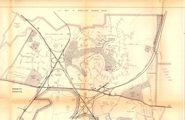 Carte de Greenbelt