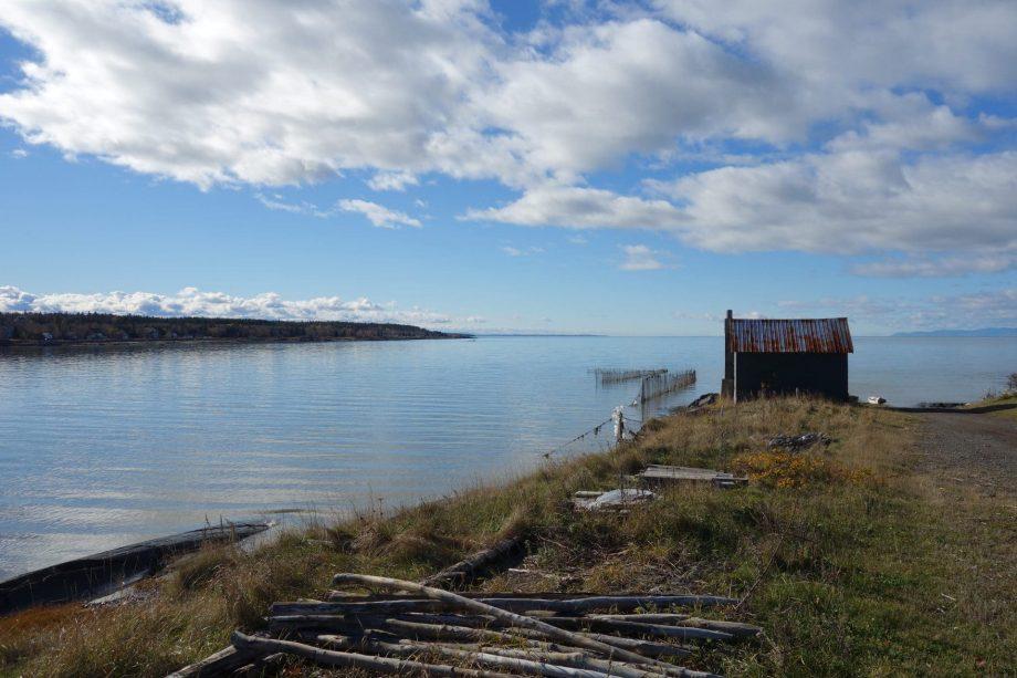 Une cabane de pêche à l'anguille, Rivière-Ouelle Photo : Ruralys