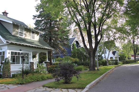 Le quartier Riverbend, à Alma, était à l'origine une ville de compagnie, fondée en mars 1925 par la Price Brothers and Company Photo : SARP