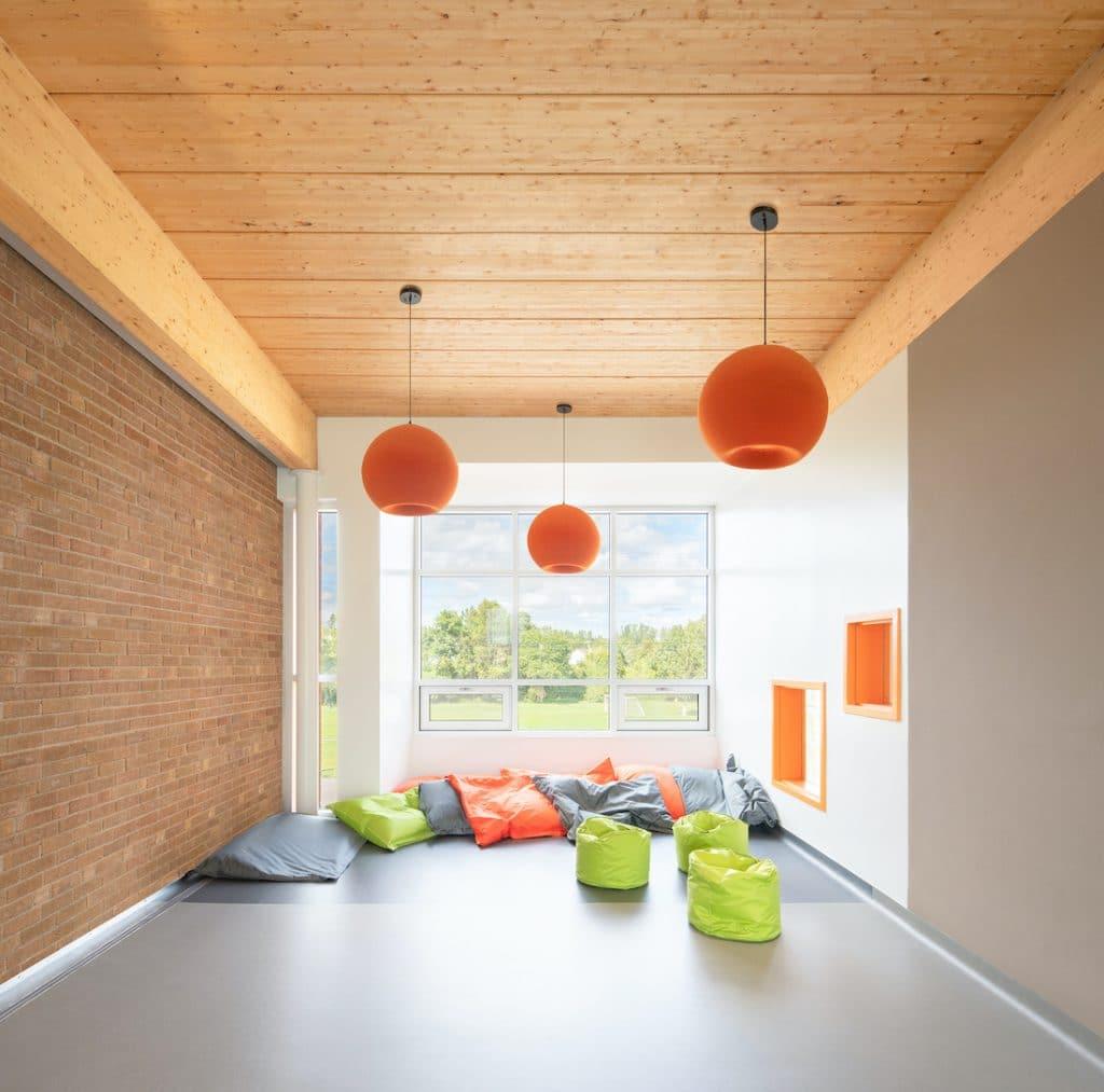 Agrandissement de l'école primaire Montmartre, Montréal, TLA Architectes Photo : David Boyer