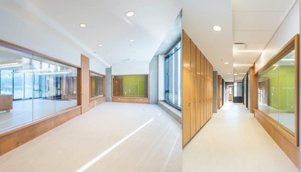 Pavillons d'hébergement du Campus Beaconsfield des Centres de la jeunesse et de la famille Batshaw, Beaconsfield, STOA Architecture Photo : Raphaël Thibodeau