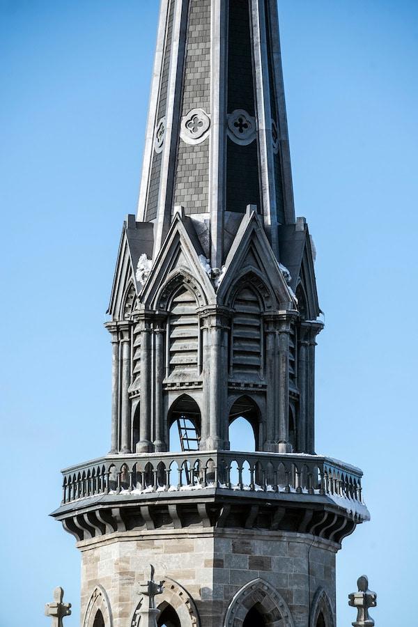 Clocher de l'église Saint-Jacques, Montréal, DFS inc. architecture & design. Photo : DFS inc., Daniel Durand