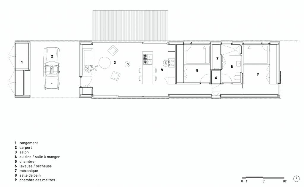 hinterhouse, La Conception, Ménard Dworkind architecture & design. Image : Ménard Dworkind architecture & design